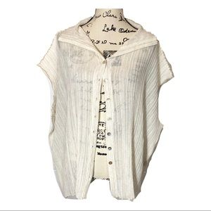 Valentino Roma Stretch Knit Button Down Pleated
